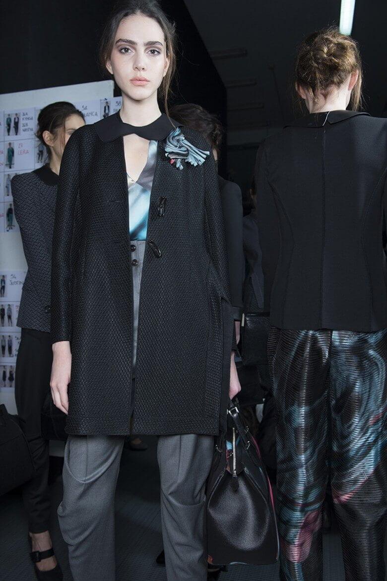 Giorgio Armani – Backstage At Milan Fashion Week AW15