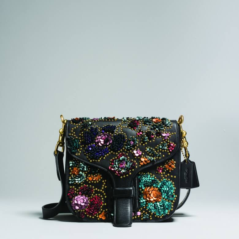 Coach & Rodarte Leather Sequins Courier Bag £895 (2)