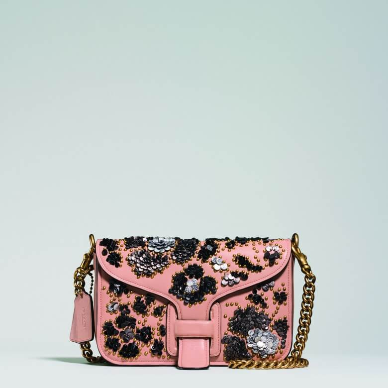Coach & Rodarte Leather Sequins Courier Crossbody £795