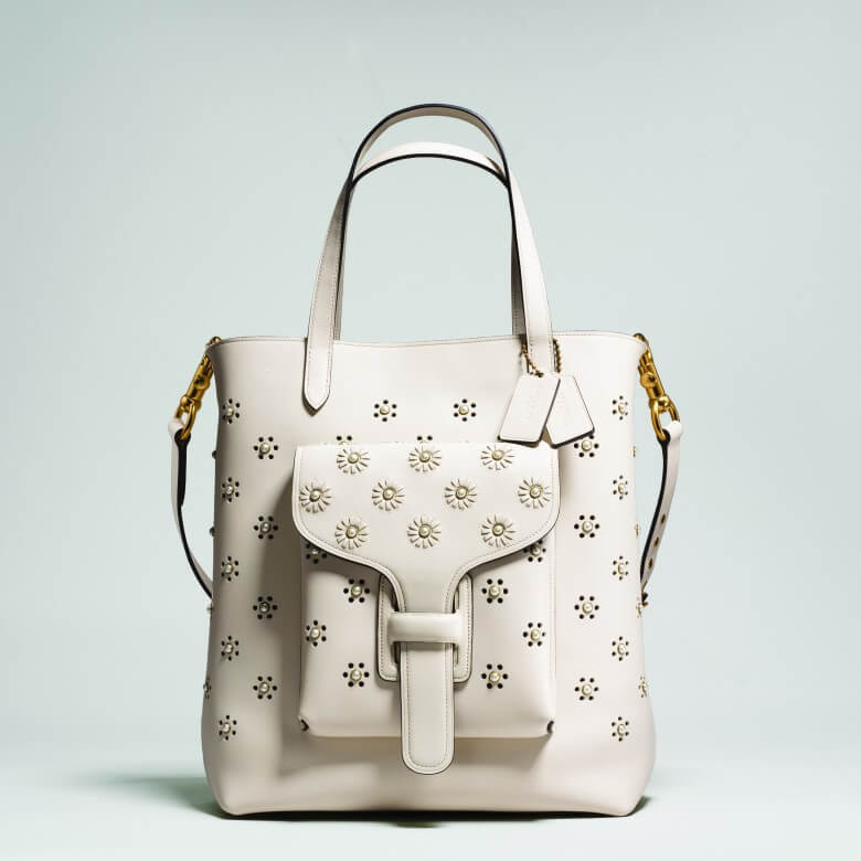 Coach & Rodarte Whipstitch Eyelet Pocket Tote £950