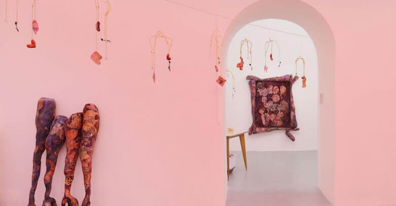 Installation view, Belladonna's Muse at BASEMENT ROMA, Rome