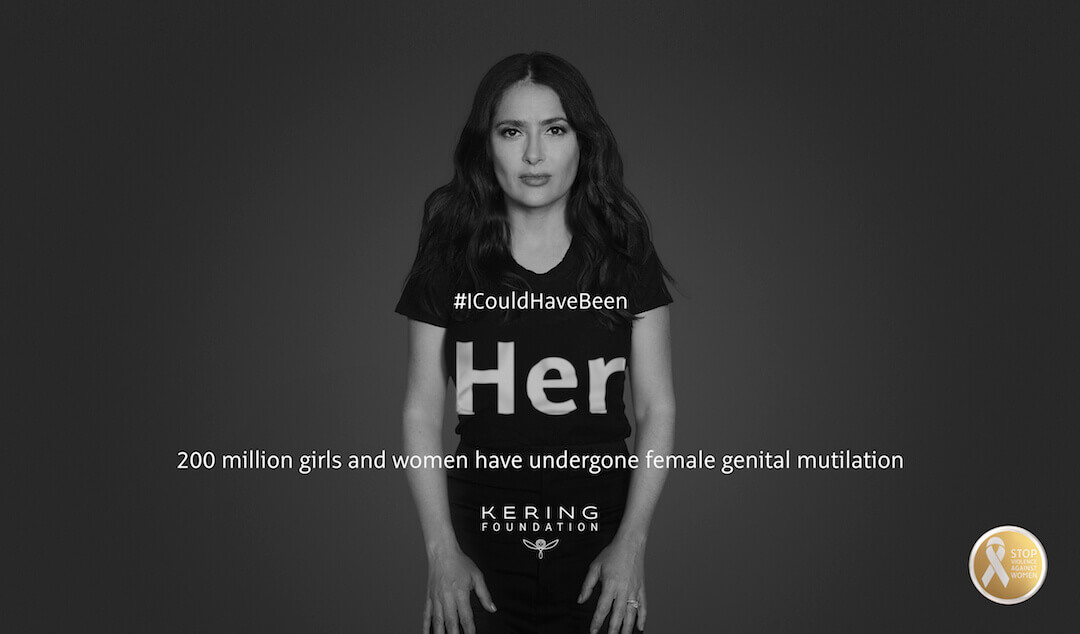 KeringFoundation.WhiteRibbonForWomen2017.#ICouldHaveBeen.SalmaHayekPinault