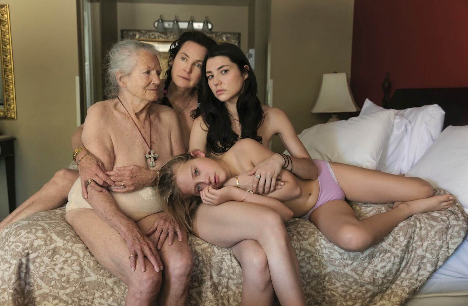 naked boy with family