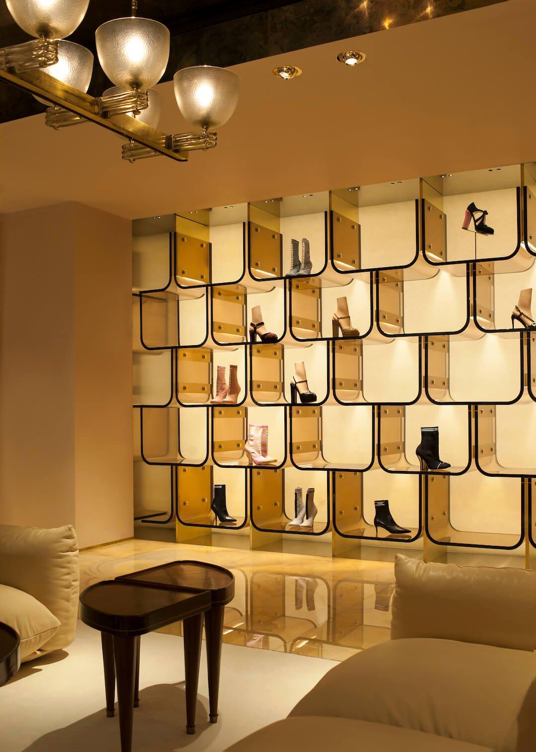07_FENDI Sloane Street boutique_first floor shoes