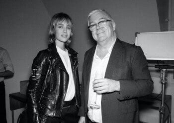 Edie Campbell and Tim Blanks - Photo- James D Kelly