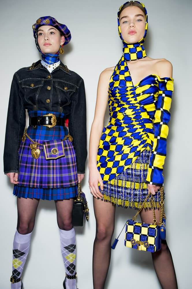 Image result for versace tartan