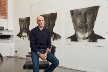 Portrait of Jason Brooks in his Gloucestershire studio, photography by Luke Andrew Walker, courtesy Marlborough Fine Art (8)