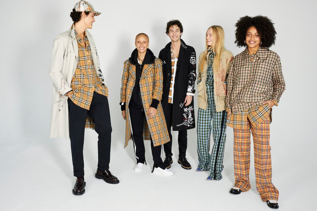 Riccardo Ambrosio, Adwoa Aboah, Oli Green, Jean Campbell and Kesewa Aboah photographed by Juergen Teller for Burberry c Courtesy of Burberry_Juergen Teller